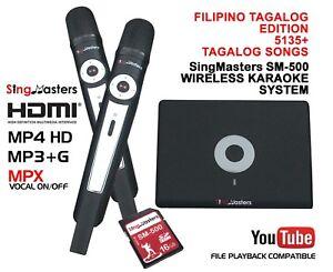 FILIPINO KARAOKE MACHINE SingMasters SM-500 Magic Sing 5135 TAGALOG,13K ENGLISH