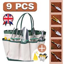 9pcs/set Garden Tool Set Gardening Tools Gift Kit Non-Slip Handle with Tote Bag