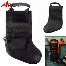 Military Hunting Tactical Christmas Stocking Storage Bag w/ Molle Webbing Black