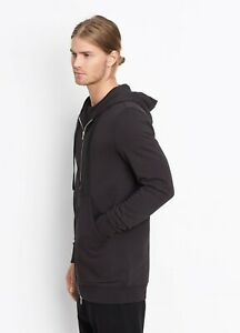 M238 NWT VINCE TERRY ZIP FRONT MEN LONG HOODIE SIZE S, M, L in B $255