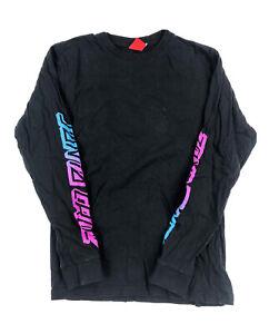 Black Long Sleeve Santa Cruz Tshirt   Small