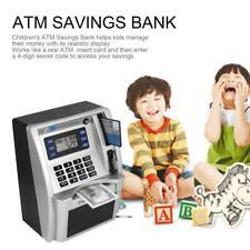 Piggy Bank Toy Kids Card Money Atm Machine Cash Coins Savings Box Lcd Screen