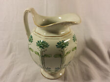 Antique Edwin Bennett Transferware Semi-Porcelain Alba China Bona Fama Pitcher