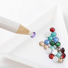 2 RHINESTONE PICKER PENCIL PEN CRYSTAL GEM NAIL ART ACCESSORY TOOL DOTTING GIFT