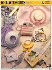 FASHION DOLL ACCESSORIES   ~   Plastic Canvas Pattern