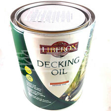LIBERON DECKING OIL 5 LITRES MEDIUM OAK, 5L BRAND NEW WITH FREE FAST DELIVERY