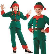 BAMBINI BAMBINE Child's Santa's ELFO Pantaloni completo costume di Natale