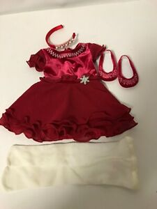 American Girl Merry & Bright Dress Christmas Red Holiday Outfit