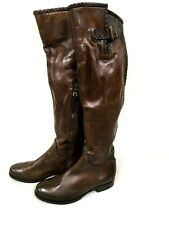 Ron White Tall Over the Knee Brown Leather Boots 36 EU