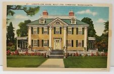 Cambridge Massachusetts Longfellow House Built 1759 Postcard A1
