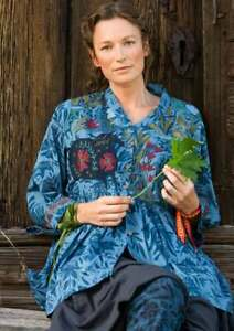 "BNWT *Gudrun Sjoden* Chandra organic cotton artist's smock L 46"""