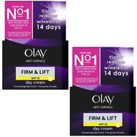 2 x Olay Anti-Wrinkle Firm & Lift SPF 15 Anti-Ageing Day Cream Moisturiser 50ml
