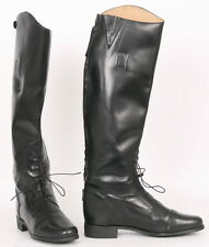 CAVALIER Womens 8 Black Leather EQUESTRIAN Horse RIDING Tall FIELD Vintage Boots
