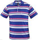 Hombre Hilo Teñido Rayas Polo Manga Corta Bolsillo Camiseta Informal pequeño