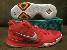KYRIE IRVING 3 UNIVERSITY RED/WHITE SUEDE BASKETBALL SHOES Sz 12 US DS