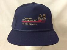 trucker hat baseball cap J&B Wholesale Quality Food Products retro vintage rave