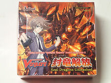 Cardfight! Vanguard CCG BT11 Seal Dragons Unleashed Sealed English Booster box