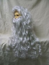 Moses Long Wig & Beard Father Time Poseidon Noah Merman Gandalf Wizard Biblical