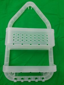 Over-The-Shower Caddy In Frosted Clear/white Room Essentials 2 shelves 5 hooks