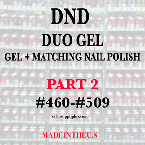DND DAISY DUO GEL W/ MATCHING LACQUER NAIL POLISH SET - CHOOSE COLOR- PART 2