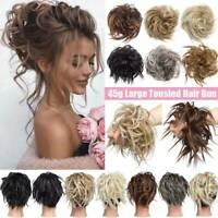 Large Messy Bun Scrunchie Hair Extensions Ponytail Blonde Hair piece As Human UK