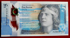 EXCELLENT ROYAL BANK OF SCOTLAND Polymer £5 Note - AU980167