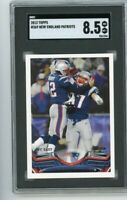 2013 Topps #369 Tom Brady - Rob Gronkowski SGC 8.5 Graded Card NM/MT GOAT Bucs