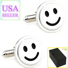 Hot Sale Men Cufflinks Smile Face Smiling Cuff Links With Gift Box