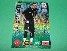 JULIO CESAR GOAL BRASIL PANINI FOOTBALL FIFA WORLD CUP 2010 CARD ADRENALYN XL