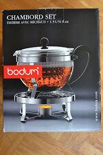 Chambord Set Teapot with Warmer 1,5 l  BODUM