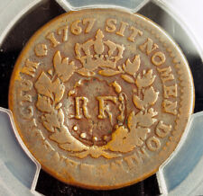 1793, French West Indies, Guadeloupe. Cu 3 Sols & 9 Deniers Coin. PCGS VG-08/VF!