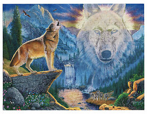 """Dufex Foil Picture Print - Mountain Wolf - size 6"""" x 8"""""""