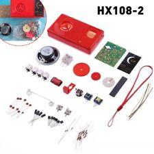 7 Tube AM Radio Electronic DIY Kit Electronic Learning Kit HX108-2 F5D4 Set Red