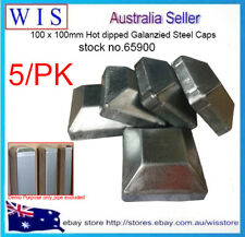 "5/PK Push On Steel Post Caps for Steel Post 4"" Square Pipe,Hot Dipped Galvanised"