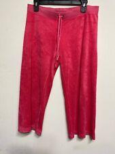 Juicy Couture Hot Pink Capri Velour Lounge Pants Sweatpants Size M