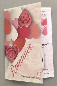 2014 AUSTRALIAN STAMP BOOKLET ROMANCE HEARTS 20 x 60c MUH -free domestic postage