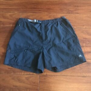 Nike ACG Shorts Women's Size 12-14 Large Active Hiking Belted Outdoor Gray EUC