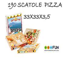 SCATOLA PORTA PIZZA 33X33X H 3,5 - CONFEZIONE 190 PEZZI -