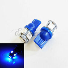 T10 2821 192 W5W Super Blue LED 5 SMD 2x Bulbs #bu10 For License Plate Light