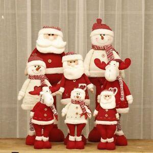 Dekor Heim Baum Tisch Einziehbar Weihnachten Puppen Weihnachtsmann Schneemann