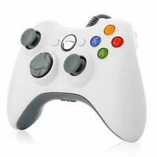 USB Wired Controller For Microsoft Xbox 360 / Windows PC Video Games White
