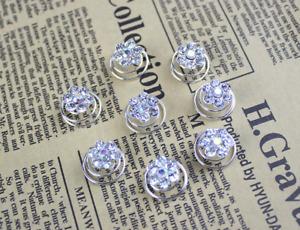 New Bridal Wedding Crystal Hair Twists Swirls Pins Spirals Pearl Flower 12pcs UK