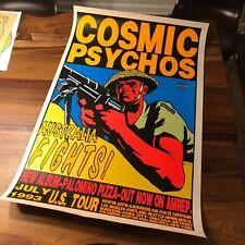 Amphetamine Reptile Cosmic Psychos Concert Tour Poster Kozik