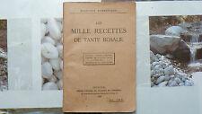 LES MILLE RECETTES DE TANTE ROSALIE / 1930