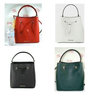 Michael Kors Women Suri Large Saffiano Leather Bucket Crossbody Purse Bag