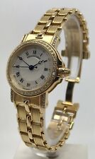Authentic Breguet Marine Ladies 18k Yellow Gold Diamond 8401BA/A40 26mm Watch