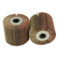 "2 Pack - 4.5"" x 4"" x 3/4"" BHA Flap Wheel Sanding Drum,1 each 60 and 120 grit"