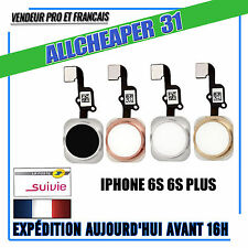 Bouton home Iphone 6S 6S PLUS Noir Argent Or Or Rose Bouton principal outil choi