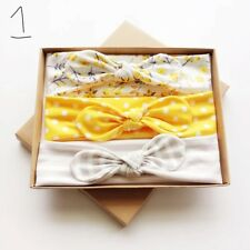 3Pcs/Set Baby Girl Hairband Kid Child Headband in Gift Box for Baby shower gift