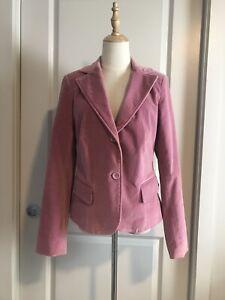 Jacquie E Blush Pink Velvet Blazer 12
